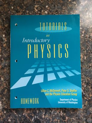 Tutorials in Introductory Physics by McDermott for Sale in Costa Mesa, CA