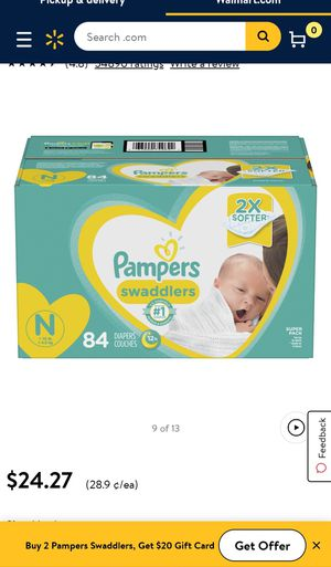 New pampers box newborn for Sale in Pasadena, TX