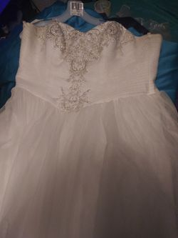 Beautiful wedding dress from David Bridal for Sale in Elkins,  WV