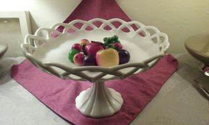 Antique Milk Glass Pedastal Bowl for Sale in Millbrae, CA
