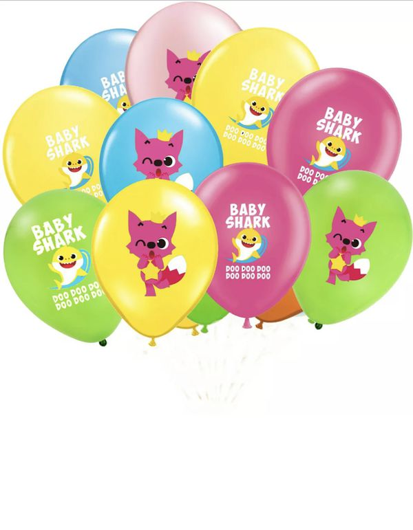 Baby Shark 25pcs Foil/Latex Balloons.