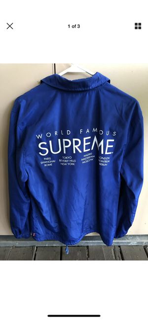 Supreme Cities 'World Famous' Coaches Jacket - Medium for Sale in Austin, TX