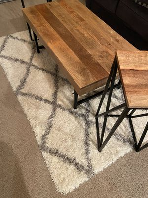 Mango Wood Coffee Table and Two End Tables for Sale in Riverton, UT