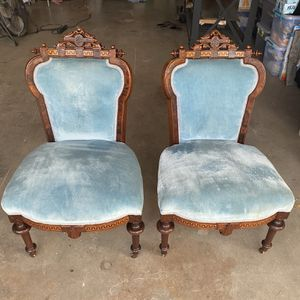 Victorian John Jelliff Dining Chairs Circa 1880s for Sale in Chandler, AZ