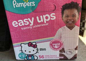 Pampers easy up size 4t-5t & one pack of 216 huggies wipes (not in picture)$25 firm for Sale in Palmdale, CA