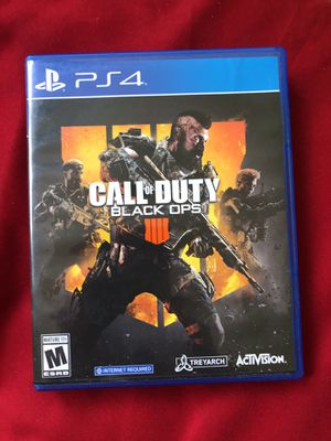 Call of Duty Black Ops 4 PS4 for Sale in Sterling, VA
