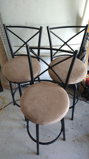 3 Black Metal Rotating Barstools for Sale in Apopka, FL