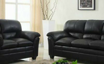 💥Same Day Delivery 🍒Halo Black Sofa & Loveseat | U5192 by Global for Sale in Glenn Dale,  MD