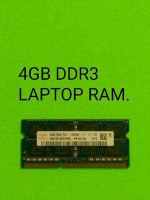 4GB DDR3 LAPTOP RAM for Sale in Phoenix, AZ