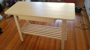 IKEA kitchen table w/ drawer and storage shelf for Sale in Washington, DC