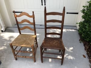 Antique ladder back chairs for Sale in Wesley Chapel, FL