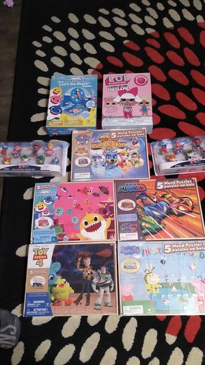 Muppet babies figures, wooden puzzles, and games for Sale in Lorain, OH