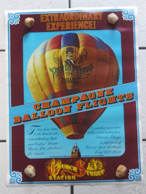 """Vintage Church Street Station Poster 24"""" x 18"""" Balloon Flights Phineas Phoggs Orlando Travel for Sale in Orlando, FL"""