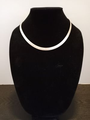 Real 925 sterling silver herringbone necklace for Sale in El Paso, TX