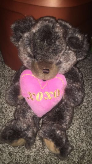 Teddy Bear Plush Stuffed Toy Valentine XOXO Heart Brown Bear for Sale in Columbus, OH