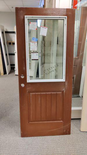 Exterior fiberglass door with 1/2 lite 34x80 for Sale in Dallas, TX