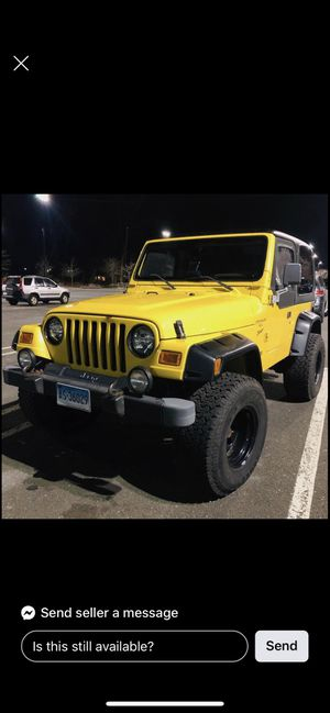 2000 Jeep Wrangler for Sale in Suffield, CT