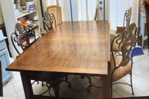 Dining table and chairs solid wood for Sale in Dallas, TX