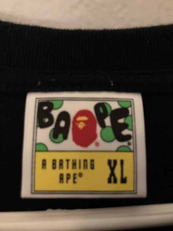 Bape (A Bathing Ape tee) | Purple XL = L