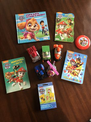 Paw Patrol Lot: Books, Toys, Cards for Sale in Cascade-Fairwood, WA