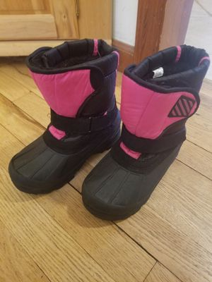Girls Size 1 Pink/Black Winter Snow Boots for Sale in Norwalk, CT