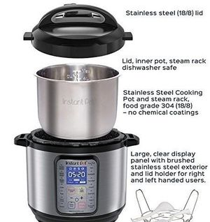 Instant Pot 6 Qt. 9-in-1 Multi Functional Pressure Cooker for Sale in Henderson, NV