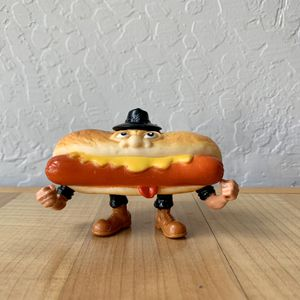 Vintage 1988 Highly Collectable Food Fighters Mean Weener Hot Dog With Backpack The Leader Refrigerator Rejects Action Figure Toy for Sale in Elizabethtown, PA