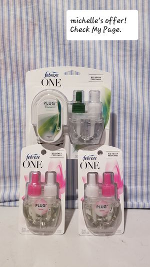Febreeze One Plug in starter/ refill set No heavy perfumes for Sale in Temple Hills, MD