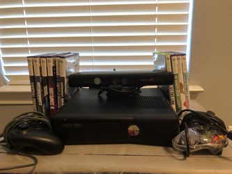 Xbox 360 Kinect With Controllers And Games for Sale in Arcola, TX