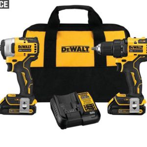 DeWalt 20-Volt MAX Cordless Compact Hammer Drill/Impact Driver Combo Kit for Sale in Phoenix, AZ