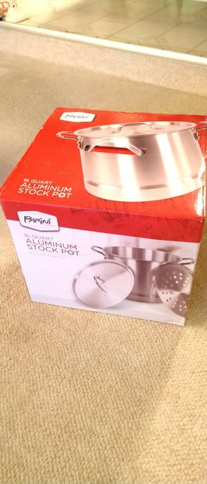 New in box 16 Quart Aluminum Stock Pot for Sale in San Dimas, CA