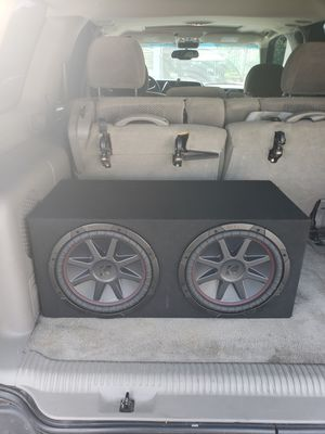 """2 12"""" kicker comps in Sealed box $240 no trades or low offers brand new for Sale in Los Angeles, CA"""