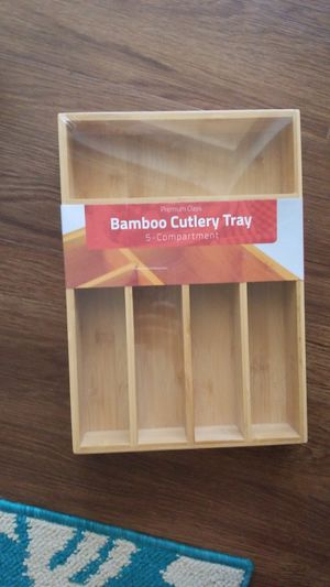 Bamboo Cutlery Tray for Sale in Clearwater, FL