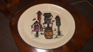 Home and garden birdhouse platter for Sale in Wapakoneta, OH