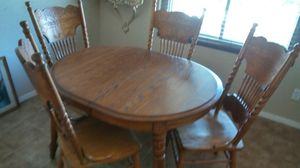Solid Oak Dining Table & 4 Chairs for Sale in Phoenix, AZ