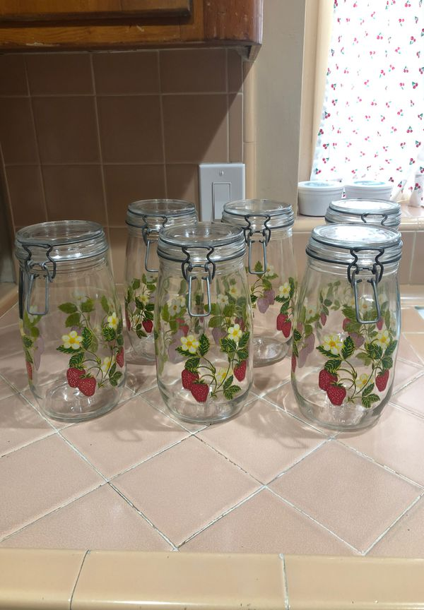 Set of canning jars/canisters