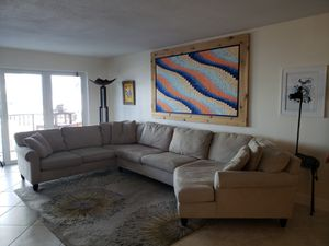 Sectional with sleeper. 96 X163. 34 inches high. for Sale in Hollywood, FL