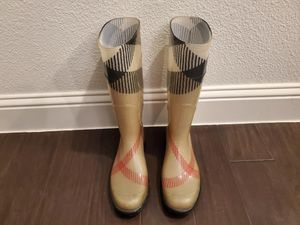 Authentic Burberry Rain Boots $90 for Sale in The Colony, TX