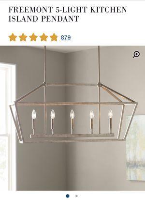 Modern chandelier- Vintage Gold (website picture coloring is not true match) for Sale in Denver, CO