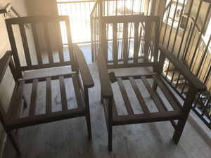 Wood patio chairs for Sale in Dallas, TX