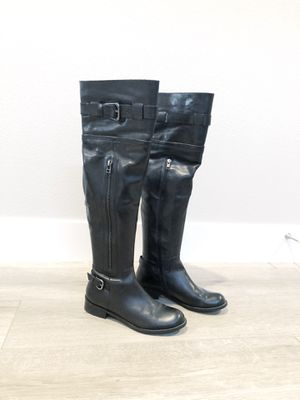 Steve Madden Sabra Womens Black Leather Knee High Boots Size 7.5 for Sale in Camas, WA