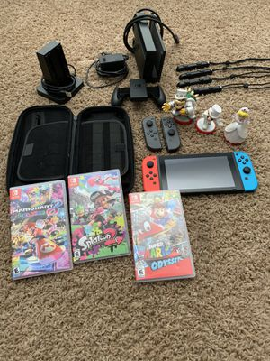 Nintendo Switch w/3 games and lots more for Sale in Phoenix, AZ