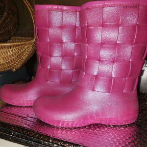 Pink Crocs Rain Boots for Sale in Seattle, WA