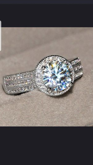 Sterling silver white sapphire ring available in sizes 7,8,9,10 for Sale in Dundalk, MD
