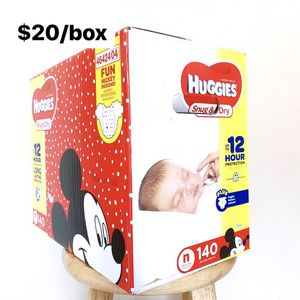 Newborn (Up to 10 lbs) Huggies Snug & Dry (140 diapers) - $20/box for Sale in Anaheim, CA