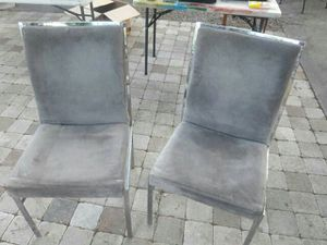 Mid century milo baughman suede and chrome chairs for Sale in Tampa, FL
