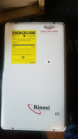 2005 Rinnai tankless water heater for Sale in Thornton, CO