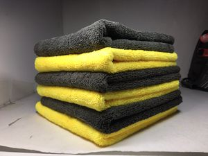 Premium Extra thick 650 gsm plush microfiber towels cleaning cloth polishing detailing no-scratch rag kitchen work for Sale in Rosemead, CA