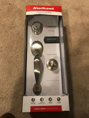Brand new Kwikset satin nickel front entry with smart key technology for Sale in Wood Dale, IL