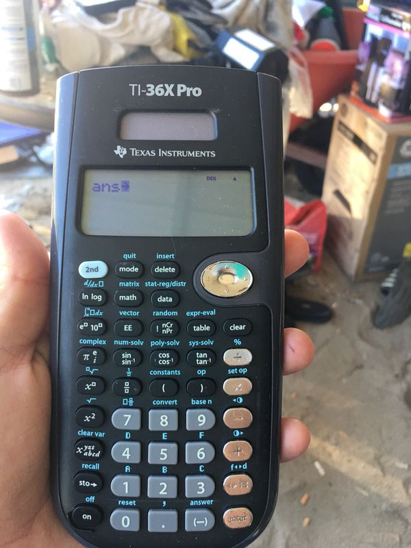 Texas Instrument TI-36X PRO Calculator for Sale in Lexington, SC - OfferUp